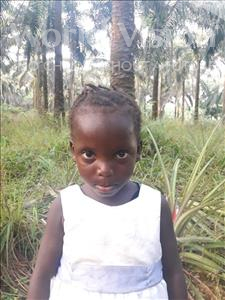 Choose a child to sponsor, like this little girl from Jong, Musu age 4
