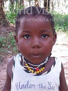 Choose a child to sponsor, like this little girl from Jong, Osenatu age 3