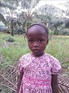 Choose a child to sponsor, like this little girl from Jong, Umu age 4