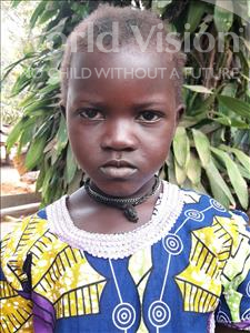 Choose a child to sponsor, like this little girl from Imperi, Sallay age 6