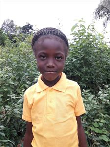 Choose a child to sponsor, like this little girl from Imperi, Isata age 8