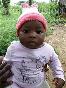 Choose a child to sponsor, like this little girl from Imperi, Mariama B S age 1