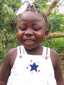 Choose a child to sponsor, like this little girl from Imperi, Fatmata age 4