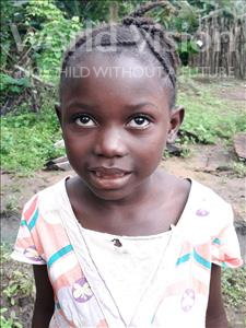 Choose a child to sponsor, like this little girl from Imperi, Kadiatu age 7