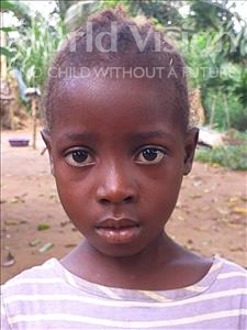 Choose a child to sponsor, like this little girl from Imperi, Zalikatu age 6