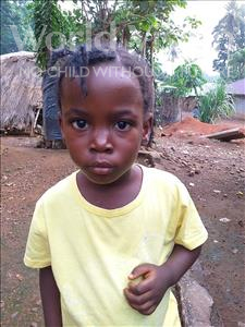 Choose a child to sponsor, like this little boy from Tegloma, Naomi age 5