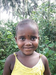 Choose a child to sponsor, like this little girl from Tegloma, Marian age 4
