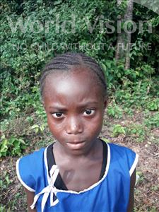 Choose a child to sponsor, like this little girl from Tegloma, Tenneh age 8