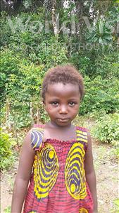 Choose a child to sponsor, like this little girl from Tegloma, Masu age 2