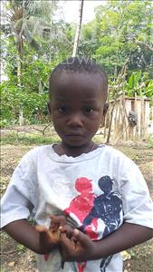 Muniru, aged 3, from Sierra Leone, is hoping for a World Vision sponsor