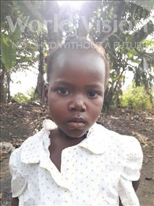 Choose a child to sponsor, like this little girl from Jaiama Bongor, Kanday age 6