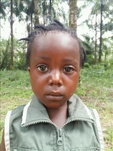 Choose a child to sponsor, like this little girl from Jaiama Bongor, Mamie age 4