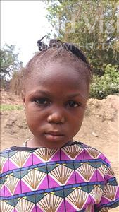 Choose a child to sponsor, like this little girl from Jaiama Bongor, Rukiatu age 5
