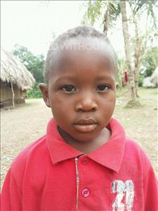 Choose a child to sponsor, like this little boy from Jaiama Bongor, Hassan age 3