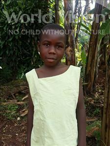 Choose a child to sponsor, like this little girl from Kibiga-Mulagi, Pamela age 8