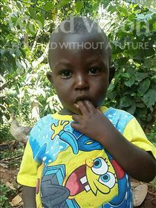 Choose a child to sponsor, like this little boy from Kibiga-Mulagi, Eri Harrison age 2