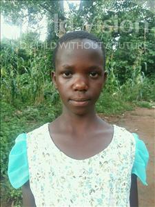 Choose a child to sponsor, like this little girl from Kibiga-Mulagi (Kimu), Sandra age 10