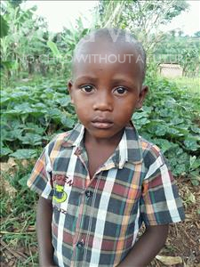 Choose a child to sponsor, like this little boy from Kibiga-Mulagi, Swaib age 4