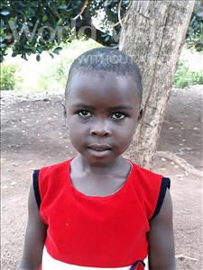 Choose a child to sponsor, like this little girl from Busitema, Fortunent age 6