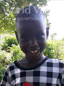 Mishack, aged 7, from Uganda, is hoping for a World Vision sponsor