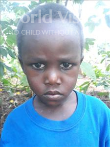 Joans, aged 4, from Uganda, is hoping for a World Vision sponsor