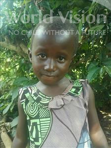 Christine Eles, aged 3, from Uganda, is hoping for a World Vision sponsor