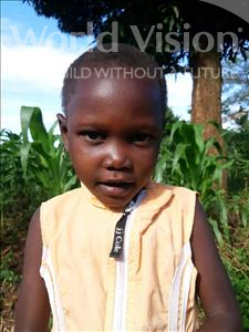 Nuruh, aged 4, from Uganda, is hoping for a World Vision sponsor