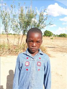 Choose a child to sponsor, like this little boy from Keembe, Andrew age 7