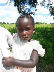 Queen, aged 2, from Zambia, is hoping for a World Vision sponsor