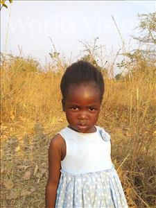 Nice, aged 3, from Zambia, is hoping for a World Vision sponsor