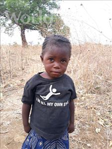 Choose a child to sponsor, like this little girl from Keembe, Doreen age 3