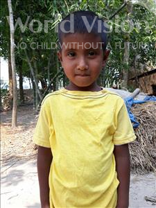 Choose a child to sponsor, like this little boy from Ghoraghat, Shimul age 5