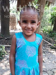 Choose a child to sponsor, like this little girl from Ghoraghat, Neela Moni age 4