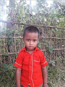 Choose a child to sponsor, like this little boy from Ghoraghat, Abir age 3