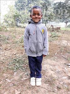 Choose a child to sponsor, like this little boy from Ghoraghat, Subha age 5