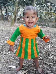 Choose a child to sponsor, like this little girl from Ghoraghat, Maria Akter age 1