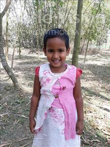 Choose a child to sponsor, like this little girl from Ghoraghat, Zoha age 4