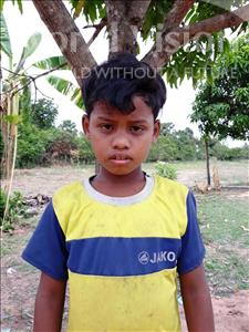 Choose a child to sponsor, like this little boy from Soutr Nikom, Oun age 10