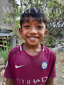 Choose a child to sponsor, like this little boy from Soutr Nikom, Mengly age 7