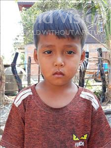 Choose a child to sponsor, like this little boy from Soutr Nikom, Rany age 4