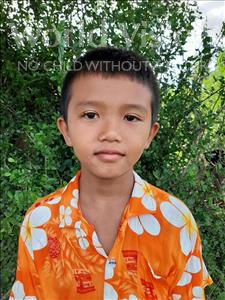 Sovannak, aged 8, from Cambodia, is hoping for a World Vision sponsor