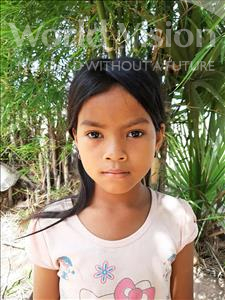 Choose a child to sponsor, like this little girl from Soutr Nikom, Kanhchana age 8
