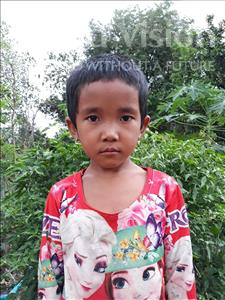 Channa, aged 5, from Cambodia, is hoping for a World Vision sponsor