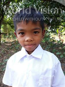 Choose a child to sponsor, like this little boy from Soutr Nikom, Sovanna age 8