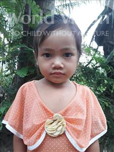 Choose a child to sponsor, like this little girl from Soutr Nikom, Sotheary age 4
