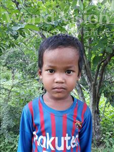 Choose a child to sponsor, like this little boy from Soutr Nikom, Phanith age 5