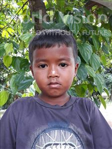 Choose a child to sponsor, like this little boy from Soutr Nikom, Sophorn age 6