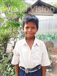 Choose a child to sponsor, like this little boy from Soutr Nikom, Vichika age 9