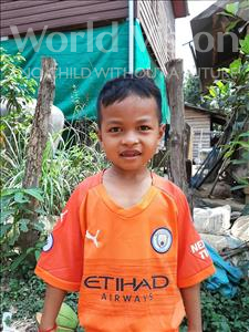 Choose a child to sponsor, like this little boy from Soutr Nikom, Nachhi age 6