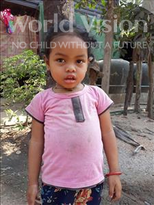 Choose a child to sponsor, like this little girl from Soutr Nikom, Rei age 3